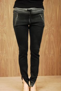 Cotton Citizen Slim Sweats with Ankle Zippers in Black - Hawthorn Shop $154