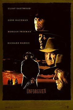 """""""Unforgiven"""" - Directed by Clint Eastwood. With Clint Eastwood, Gene Hackman, Morgan Freeman, Richard Harris. Retired Old West gunslinger William Munny reluctantly takes on one last job, with the help of his old partner and a young man. Streaming Movies, Hd Movies, Movies Online, Movies And Tv Shows, Movie Tv, Hd Streaming, Watch Movies, Horror Movies, Films Cinema"""