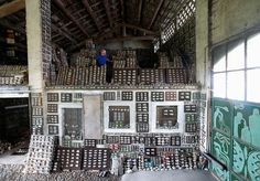 Stone collector Luigi Lineri, 79, walks through his stone collection found along Adige river, at his home workshop in Zevio, near Verona, Italy, June 10, 2016. REUTERS/Alessandro Bianchi           SEARCH 'STONE COLLECTOR' FOR THIS STORY. SEARCH 'THE WIDER IMAGE' FOR ALL STORIES. via @AOL_Lifestyle Read more: https://www.aol.com/article/news/2017/03/14/extreme-collectors-unhealthy-obsession-or-hobby/21886730/?a_dgi=aolshare_pinterest#fullscreen