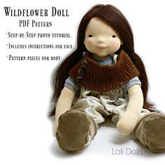 PDF patroon Wildflower pop van LaliDolls op Etsy