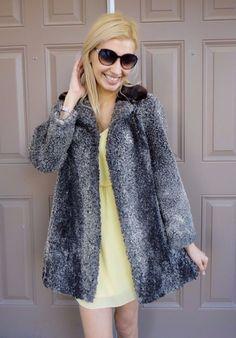 eebb4edaea6dc Women s Genuine Gray Persian Lamb Mink Fur Coat for Craft Cutter Hobby  Purpose