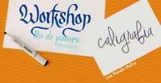 WORKSHOP DE CALIGRAFIA, com Renato Matos. 3 de outubro (sábado) na Stampa Studio, Rio.