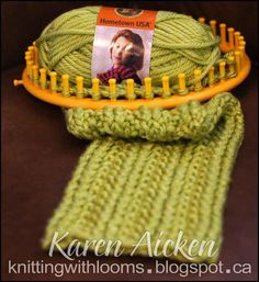 Knitting With Looms: Textured Cowl Make scarf for J