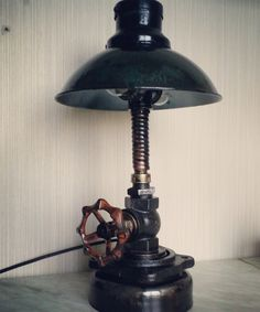 table lamp is made of non-ferrous and ferrous metal. 189$