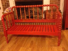bench made from a jenny Lynn bed
