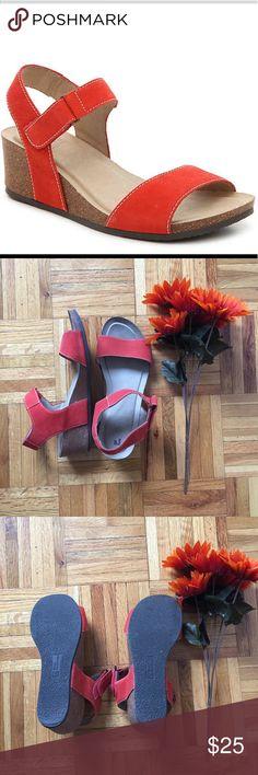 Spotted while shopping on Poshmark: Haines Cork Wedge Sandals Orange! #poshmark #fashion #shopping #style #White Mountain #Shoes