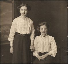 Charming ANTIQUE PHOTO of Two teen Twin by vintagewarehouse, $3.50