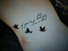 Let These 11 Romantic Movie Quote Tattoos Teach You How To Love Tatoo Art, Get A Tattoo, Arm Tattoo, Sleeve Tattoos, Tattoo Bird, Foot Tattoos, Body Art Tattoos, New Tattoos, Small Tattoos