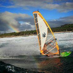 Nice rainbow,  nice ride : Graham Ezzy !