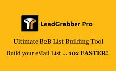 List Building Tool - Build Your eMail List faster