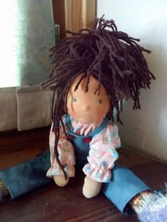 Waldorf doll girl by MeseHely on Etsy Waldorf Dolls, Doll Clothes, Dreadlocks, Inspired, Trending Outfits, Hair Styles, Unique Jewelry, Handmade Gifts, Inspiration