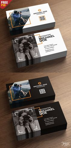 Photography Business Cards Template Psd On Behance with regard to Photographer Id Card Template Free Business Card Templates, Free Business Cards, Unique Business Cards, Id Card Template, Business Names, Business Ideas, Photographer Business Cards, Photography Business, Professional Photography
