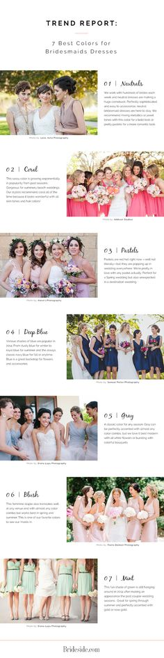 Top 7 bridesmaid dress colors for 2015.