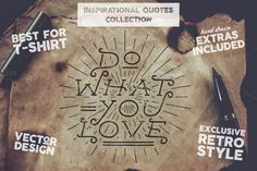 Inspirational Quotes Set + Extras by JeksonGraphics on @creativemarket