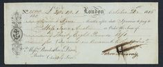 Jane Austen: novelist and business woman. (A photo of an old cheque with ink handwriting of Jane's).
