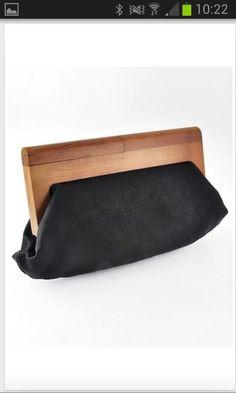 Wood handled clutch