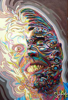 Sam Woolfe: Shaka (Marchal Mithouard): Psychedelic Graffiti Artist