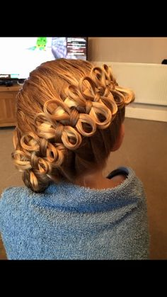 A large braid with beautiful bows