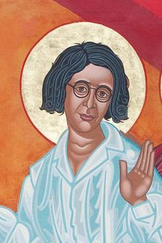 Simone Weil | All Saints Company.The Dancing Saints Icons project at Saint Gregory Nyssen Episcopal Church, San Francisco is a multi-year installation project supported by All Saints Company, the congregation of Saint Gregory Nyssen Church and many donors and benefactors. The iconographer is Mark Dukes.