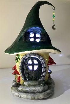 Paper clay & Soda Bottle Fairy House