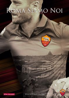 Roma Siamo Noi / We Are Rome - a. Roma web contest - Fan art by Daniele Benedetti www. As Roma, Totti Roma, Squad Photos, Everton Fc, Juventus Fc, European Football, Football Cards, Art Logo, Football Players