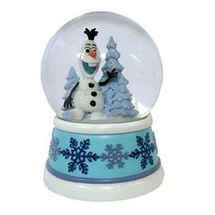 Disney Snowglobes and Water Globe Collectibles - Olaf the Snowman from Frozen