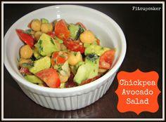 chickpea avocado salad (super simple)