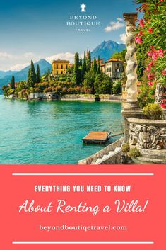 Beyond Boutique answers your questions about renting a luxury villa and explains why a villa can be your perfect luxury vacation in the Caribbean or within the US, and around the world. Picture yourself sipping wine in a luxury villa on a vineyard in Italy! Often villas come with a concierge and private chef. The possibilities are endless. Click to read more. Follow @beyondboutiquetravel for the latest intel in luxury travel Beautiful World, Beautiful Places, Travel Around The World, Around The Worlds, Rent A Villa, Luxury Villa Rentals, Private Chef, Concierge, Renting