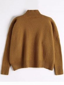 High Neck Drapey Sweater