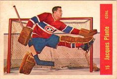 Jacques Plante Parkhurst Montreal Canadiens HOF # 15 EX Montreal Canadiens, Hockey Goalie, Hockey Players, Nhl, Hockey Cards, Baseball Cards, National Hockey League, A Team, Snake
