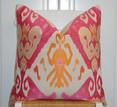 Decorative Pillow Cover  20 x 20  IKAT   by TurquoiseTumbleweed, $65.00