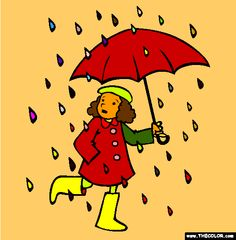 rain rain go away coloring page