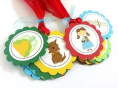 Inspired by the 1900 children's novel Wonderful Wizard of Oz, these tags are perfect to adorn your favors, either they are for birthday party, baby shower or any party! You can also use these as scrap