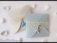 Tuto: Partecipazioni Nozze tema Marino - ENG SUBS Wedding invitations Marine Style - YouTube