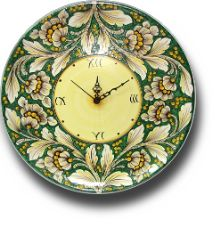 Orologio in Ceramica di Caltagirone - Ceramiche Artistiche Agatino Caruso - Ceramica di Caltagirone #lsicilia  #sicily #caltagirone
