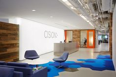Eastlake Studio has developed a new office space for software development firm Cision located in Chicago, Illinois. | Cision – Chicago Offices by Eastlake Studio