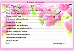 Vragenlijst die je door de kinderen kunt laten invullen voor moederdag.