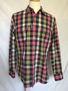 Mens The Freshly Laundered Robert Graham XL Shirt Plaids & Checks Long Sleeves  #RobertGraham #ButtonFront