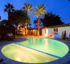Palm Springs Villa Del Sol is an elegant upscale Palm Springs villa. With pool, spa, tennis, 4 bedrooms + 5 baths, this luxury Palm Springs villa exudes the charm and warmth of early California gracio...