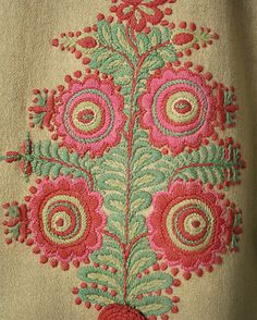 Detail on a beautiful Szur Coat from Hungary// Maria L.Bertolino/ www.pinterest.com...
