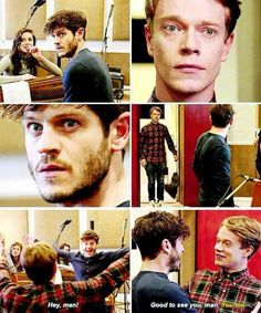 Alfie and Iwan are reunited. 《 they're lovely