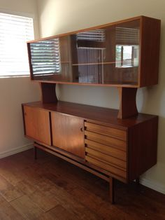 Danish Modern Arne Vodder For Sibast Teak Credenza Hutch