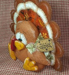 Giblet the Turkey Pattern 200 Primitive Doll by GingerberryCreek