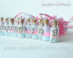 Custom Tinkerbell Pixie Dust Necklace...great for Princess parties and tea parties...