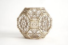 3D Laser Cut Architectural Ornament - Sacred Geometry - Great Rhombicuboctahedron