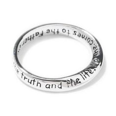 "InspiRing Scripture Ring ""Jesus answered, I am the way, the truth and the life. No one comes to the Father except through me"""