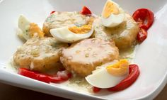 Receta de Patatas en salsa verde con morrones