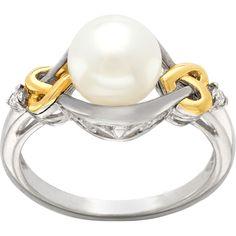 Pearl & diamond ring. Very pretty design.