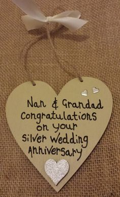 25th Wedding Anniversary Gifts For Her   Little Miss Scrabbled