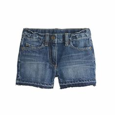 A vintage-inspired pair of shorts with a soft blue wash that's been hand washed and sanded for a soft feel—easy to throw on with a T-shirt and some glittery accessories. <ul><li>Cotton.</li><li>Machine wash.</li><li>Import.</li></ul>